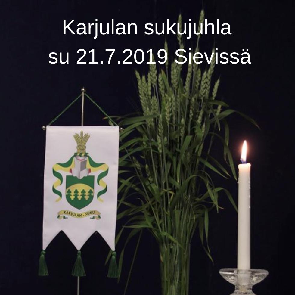 Karjulan sukukokous su 21.7.2019 Sievissä